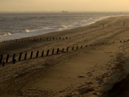 spurn: Beach, Spurn Point, East Yorkshire, November 2011 Stock Photo