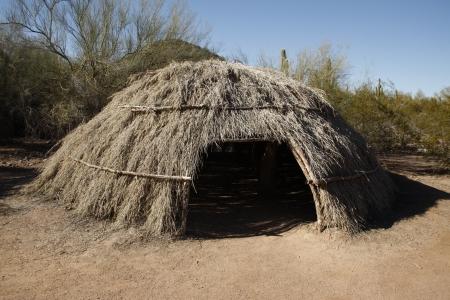 pima: Akimel Oodham or Pima household, Arizona, USA