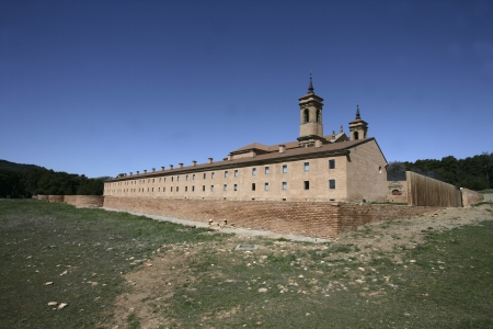 pena: San Juan De La Pena monastery, 17th centuary. New one of the two. Aragon, Spain Stock Photo