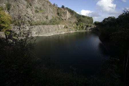 gullet: Gullet quarry, Malvern Hill, Worcestershire