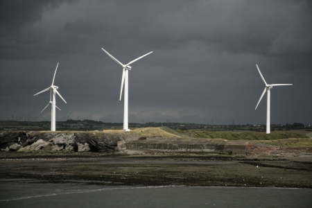 Workington, wind turbines, Cumbria, UK Stock Photo - 24386787