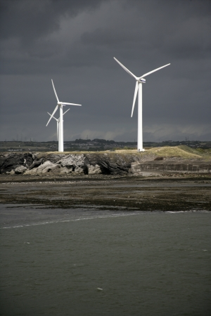 cumbria: Workington, wind turbines, Cumbria, UK