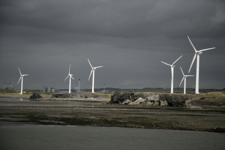 Workington, wind turbines, Cumbria, UK Stock Photo - 24386831