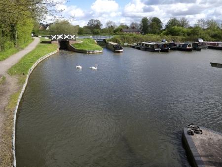 warwickshire: Kingswood Basin, Lapworth, Stratford  Canal, Warwickshire, May 2013 Stock Photo