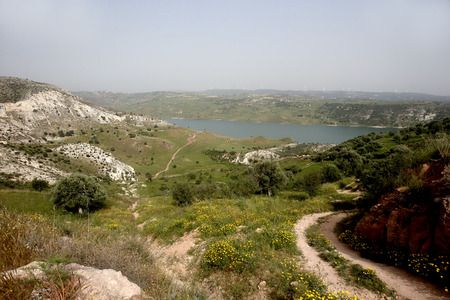 reservoir: Asprokremmos reservoir, Cyprus, Stock Photo