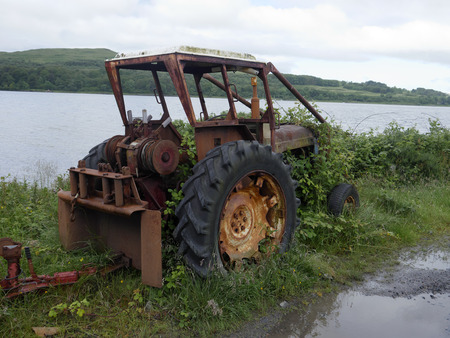 old tractor: Old tractor, Isle of Mull, Scotland, July 2015