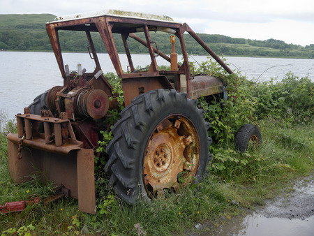 Mull: Old tractor, Isle of Mull, Scotland, July 2015