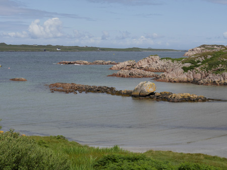 mull: Fionnphort, Isle of Mull, Scotland, July 2015 Stock Photo