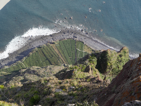 at the highest: View from Cabo Girao Madeiras highest cliff, March 2016