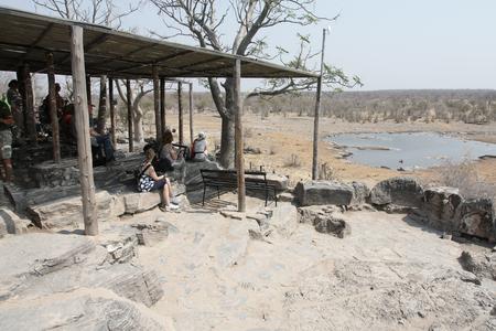 the water hole: Moninga water hole, Halali camp, Etsoha, Nambia, August 2016
