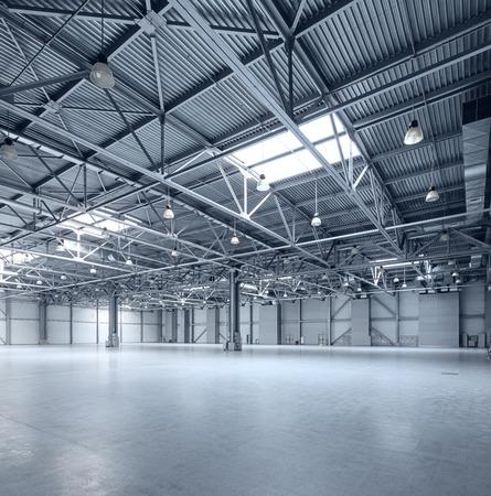 siderurgia: Interior del almacén vacío Foto de archivo
