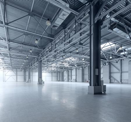 空の倉庫の内部