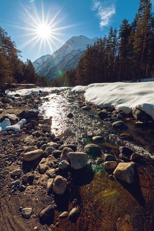 Baksan (Azau) river near mt. Elbrus, Kabardino-Balkaria, Russia