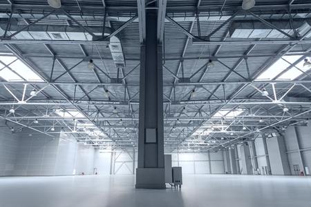 cement floor: Interior of empty warehouse