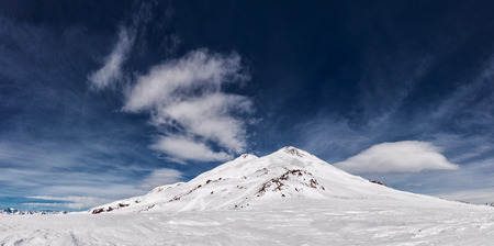 elbrus: View from the Refuge of the 11 on the mount Elbrus, the northern Caucasus mountains, Russia