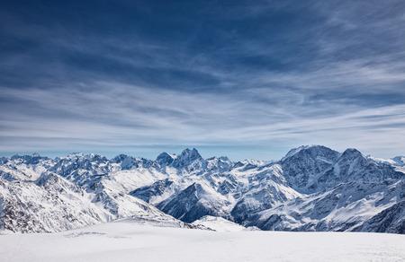 エルブラス山、北コーカサス、ロシア、マウントからを眺め