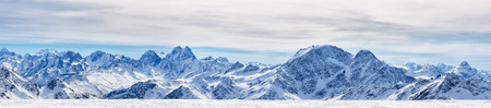 elbrus: Panoramic view from the mount Elbrus, the northern Caucasus mountains, Russia