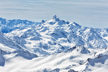 elbrus: View from the mount Elbrus on Georgia