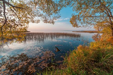 lake sunset: Sunset on the Lake Pleshcheyevo, Russia