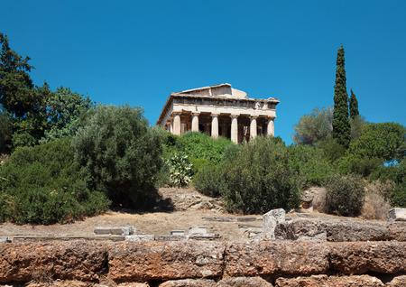 friso: Hefestión en Atenas, Grecia Foto de archivo