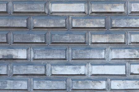 Industrial grey brick wall horizontal background Фото со стока