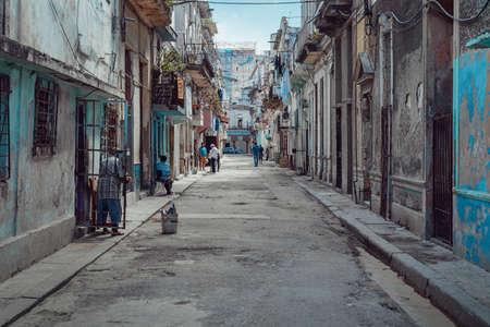 Havana, Cuba - March 22, 2019: Everyday life on streets of Havana 新闻类图片