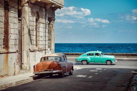 Vintage cars on streets of Havana, Cuba