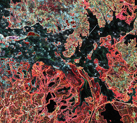 Abstract texture color. The colors of the Earth from space