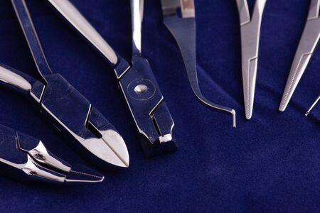 Dental equipment on black background