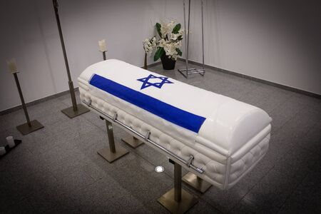 a jew coffin israel. jewish coffin