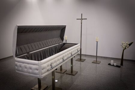 Coffin with new modern like a Sofa chester style.