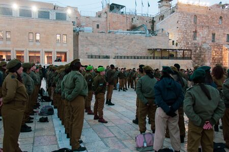 Jewish Women Army Young girls in Jerusalem