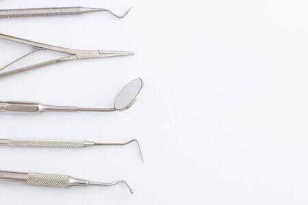 Dental Tools on white