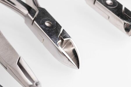 Dental Tools on white. Close up photo
