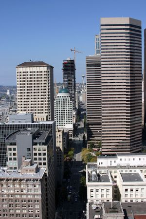 downtown seattle from 57 stories up photo