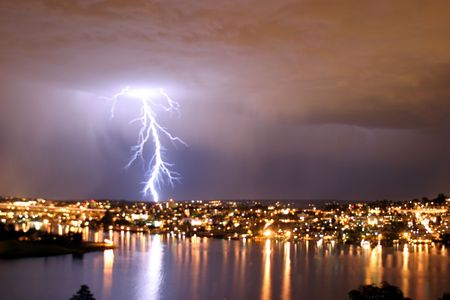 natue: lightning storm in seattle