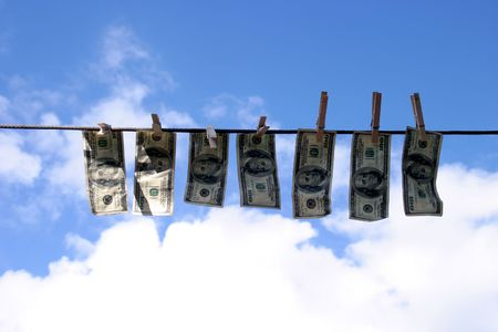 laundering: money laundering Stock Photo