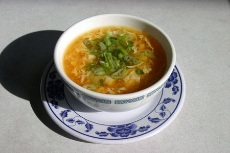 resturant: egg flower soup in a chinese resturant