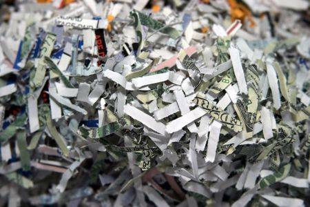 shredding secret documents photo