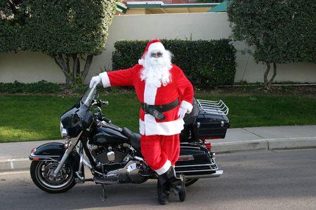 biker santa photo