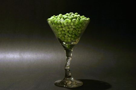 barware: a yummy green pea martini!