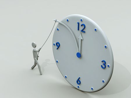 Stop time. Concept clock, 3D render photo