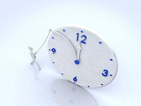 stop time: Stop time 3D clock concept