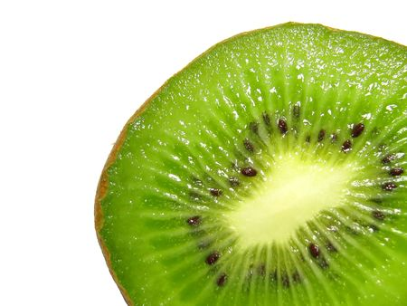 Kiwi slice isolated Фото со стока - 4744197