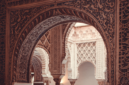 Salon de Audiencias or Hearings Chamber is one of the most visited parts of the Alcazar of Seville, Spain