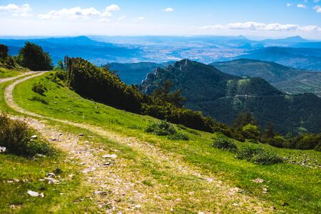 Beautiful sight from the top os Santo Domingo in Longas, Spain