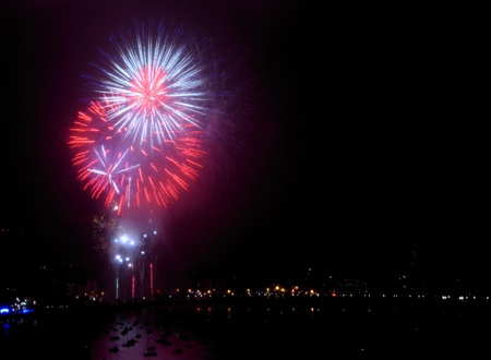 fireworks in the port