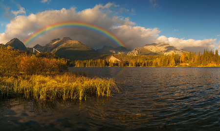 tatras: Lake in the High Tatras Strbske Pleso, Slovakia