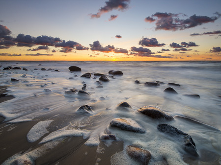Beach in Wolin National Park in the light of the wonderful sunset
