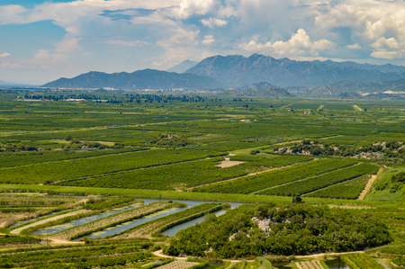fields and meadows, Croatia Stock Photo